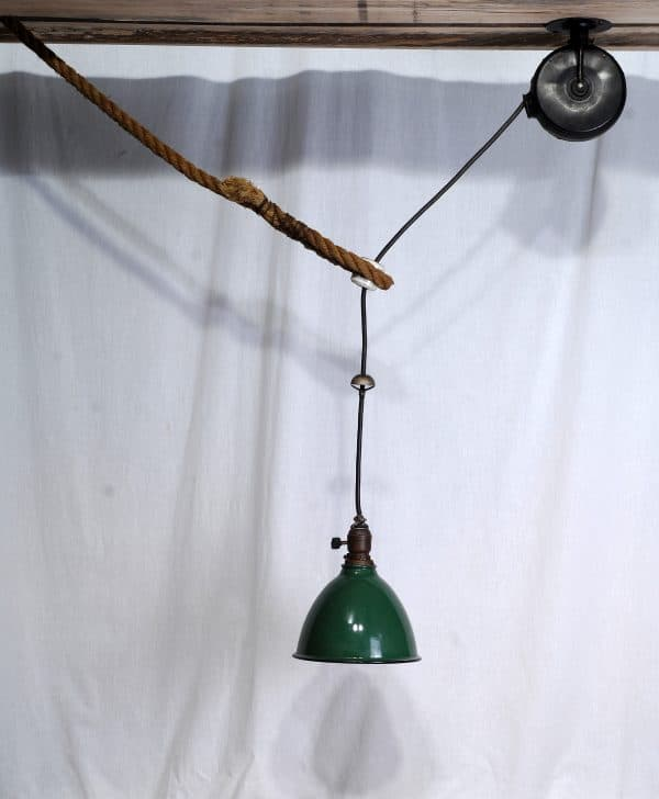 lampe ajustable antique industriel