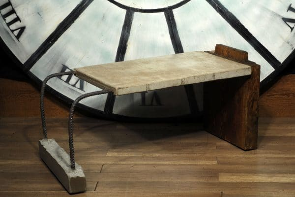 table salon bois metal beton coffee table wood steel concrete