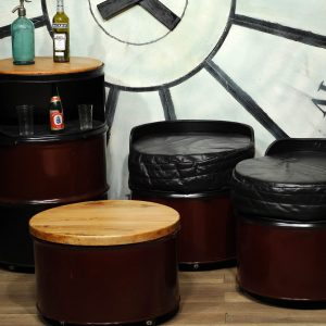 meuble industriel banc baril garage furniture