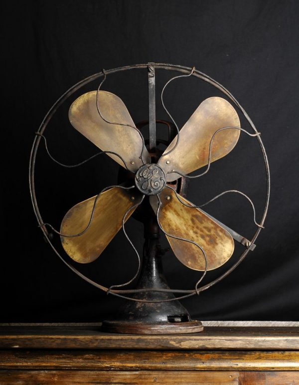 ventilateur industriel antique g e industrial fan 2 chance deco. Black Bedroom Furniture Sets. Home Design Ideas