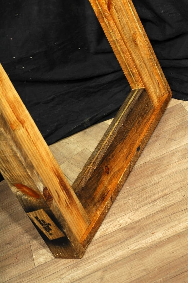 grand mirroir cadre de bois brute big mirroir reclaim wood frame