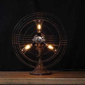 ventilateur industriel antique lampe