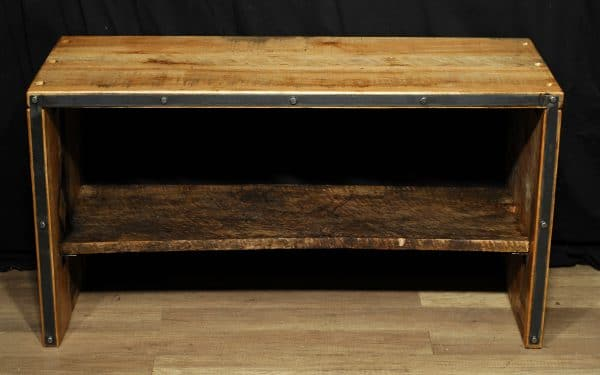 meuble tele tv stand bois brute et metal reclaim wood ans steel meuble industrile industrial furniture