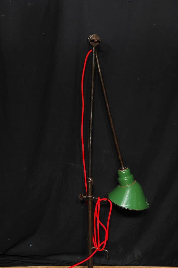 standing industrial lamp