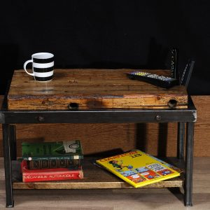table salon table café industriel antique bois metal coffee table industrial antique reclaim wood steel