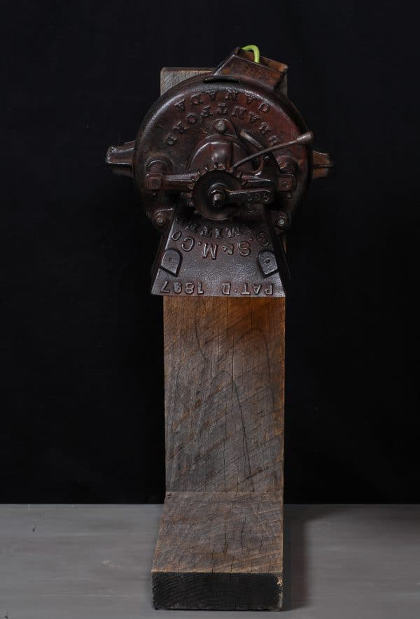 industrial machinery lamp cast iron antique