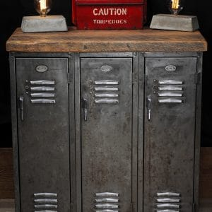 cabinet industriel antique industrial cabinet