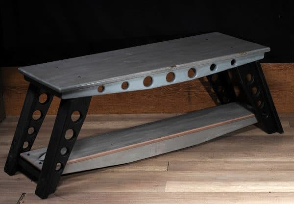 industrial coffee table tv stand aviation style