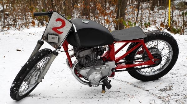 moto vintage bike race course honda cm200t