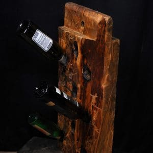 porte bouteille de vin en bois brute wine holder reclaim wood