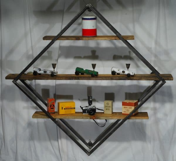 meuble industriel etagere metal bois industrial furniture wood and steel storage