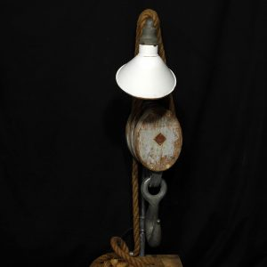 lampe industriel poulie marine antique
