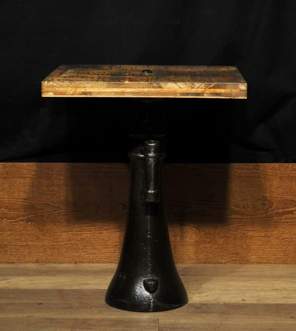 table industrial bois et fonte antique cast iron industrial table