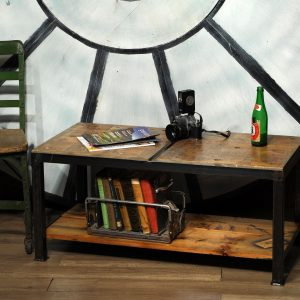 table banc en bois industriel wood bench or table