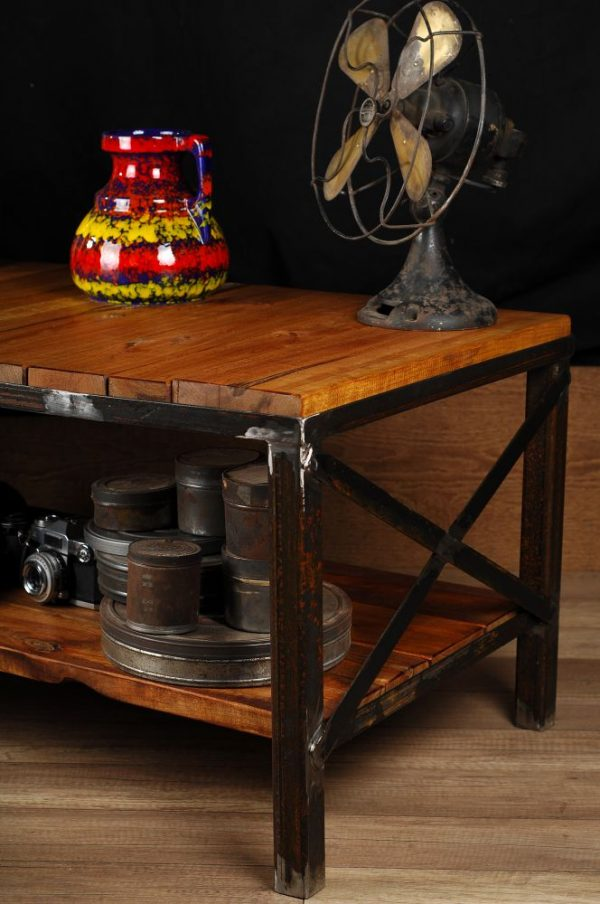 meuble industriel table de salon ou meuble tele industrial furniture coffee table or tv stand. Black Bedroom Furniture Sets. Home Design Ideas