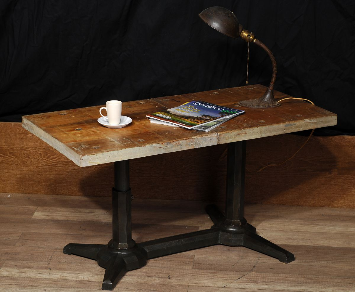 Table de salon industriel antique antique industrial - Table de salon antique ...