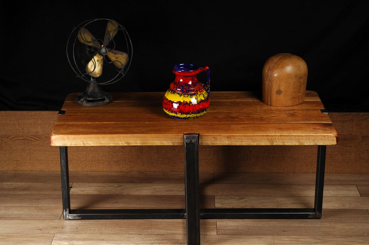 meuble industriel table de salon /industrial furniture coffee table